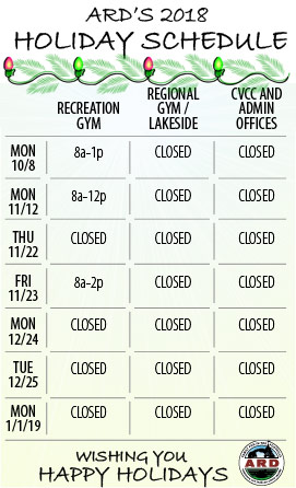 Holiday Building Schedule